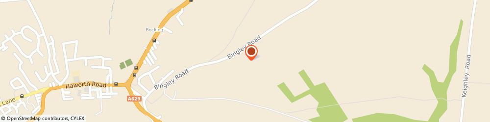 Route/map/directions to Quarry House Inn, BD21 5QE Keighley, Quarry House/Bingley Road Lees Moor
