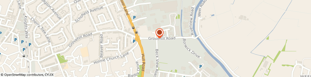 Route/map/directions to M&M AUTOTECH LIMITED, HU17 0JG Beverley, Grovehill Road
