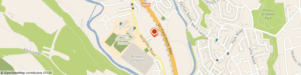 Route/map/directions to Unique Freight Services Ltd, BD16 2RP Bingley, 11 Harold St
