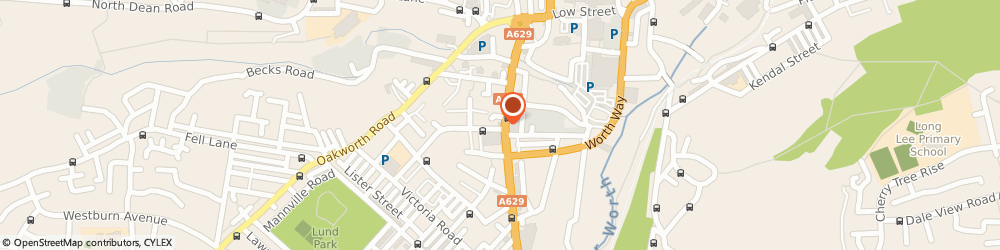 Route/map/directions to The King's Head Hotel, BD21 1PF Keighley, 38 South Street