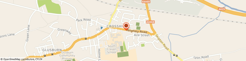 Route/map/directions to The Old Bear Brewery, BD20 7RN Keighley, 6 Keighley Road, Cross Hills
