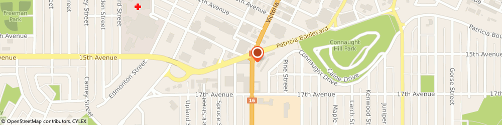 Route/map/directions to Quick Fix Cell Repair, V2L 2L4 Prince George, 1537 Victoria Street;