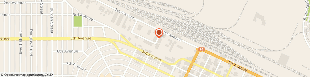 Route/map/directions to Cycle Salvage, V2L 2Y8 Prince George, 1839 1St Ave #16