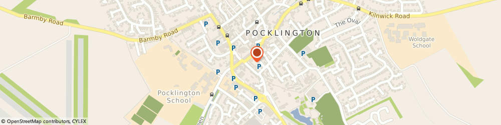 Route/map/directions to W M G BUILDERS LTD, YO42 2AR Pocklington, First Floor, 14 Market Place