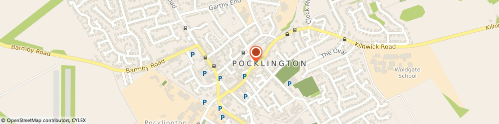 Route/map/directions to Townend English & Co, YO42 2AE Pocklington, 81-83 Market St