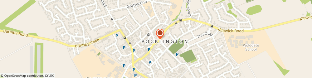 Route/map/directions to Post Office Limited, YO42 2AB Pocklington, Market Street