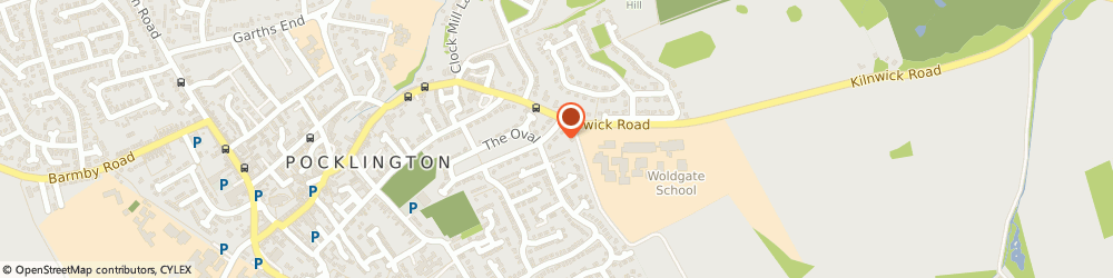 Route/map/directions to Westmoreland Builders Ltd, YO42 2LN Pocklington, 21 The Oval
