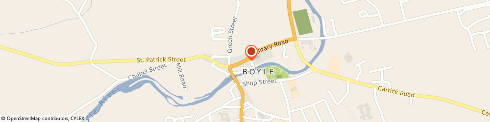 Route/map/directions to Grehans RTV & Hairdressing,  Roscommon, MAIN STREET, BOYLE