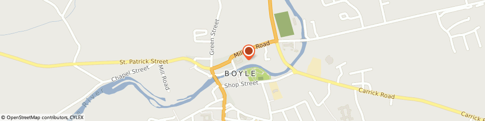 Route/map/directions to Croghan Organic Garden,  Boyle, CROGHAN BOYLE