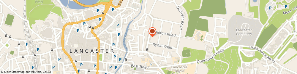Route/map/directions to Post Office Limited, LA1 3PU Lancaster, 81 Ullswater Road