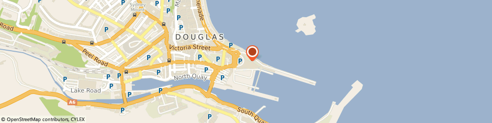 Route/map/directions to COSTA COFFEE, IM1 2RF Douglas, Sea Terminal