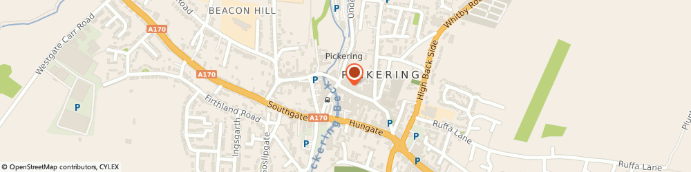 Route/map/directions to Capplemans, YO18 7AA Pickering, 11 Market Pl