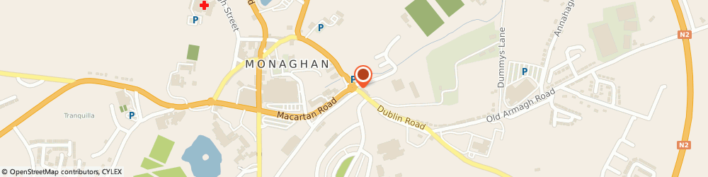 Route/map/directions to MC KENNA FIREPLACES,  Monaghan, Old Cross Square