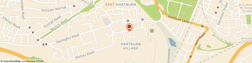 Route/map/directions to Carsound, TS18 5DR Stockton-On-Tees, 79 Hartburn Village