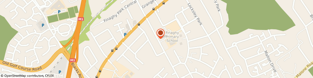 Route/map/directions to J Rowney, BT10 0BX Belfast, Rowney Practice13-25 Finaghy Road South