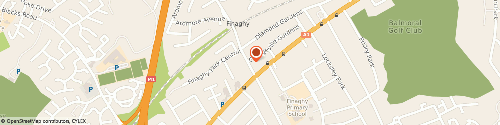 Route/map/directions to Devenish Arms The, BT10 0JD Belfast, 33-37 Finaghy Road North