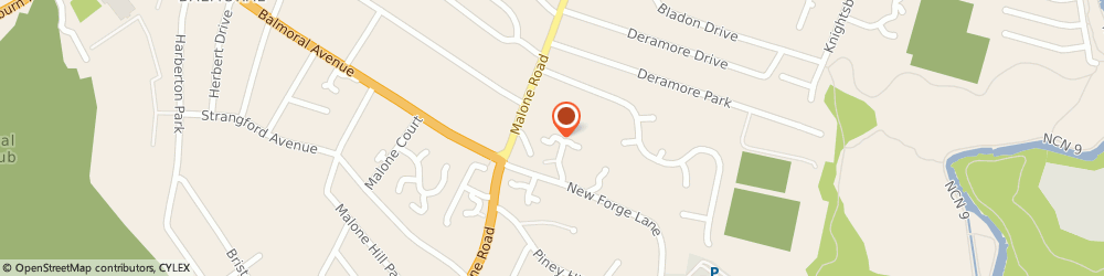 Route/map/directions to Newforge Travel Ltd, BT9 5NW Belfast, 20E Newforge Lane
