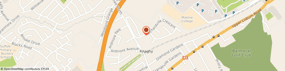 Route/map/directions to Finaghy School Of Motoring, BT10 0JS Belfast, 3, ORCHARDVILLE CRESCENT