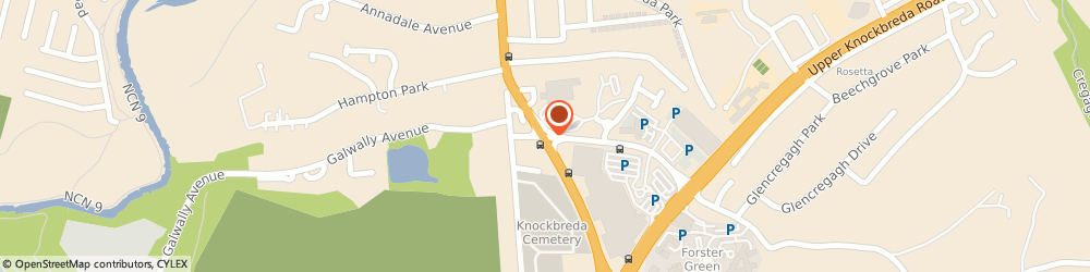 Route/map/directions to Invest Northern Ireland, BT8 6TB Belfast, UPPER GALWALLY