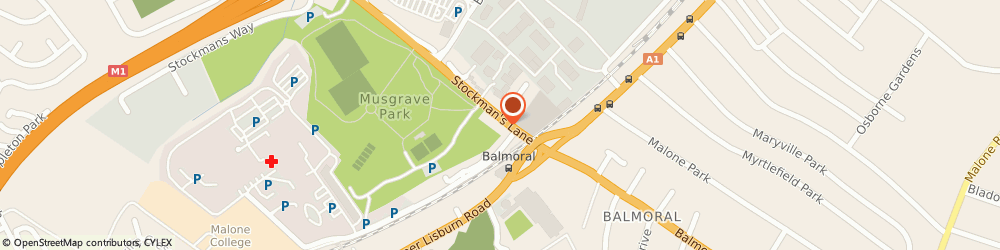 Route/map/directions to MUSGRAVE HOUSE HEALTHCARE LTD, BT9 7JA Belfast, 10 Stockmans Ln