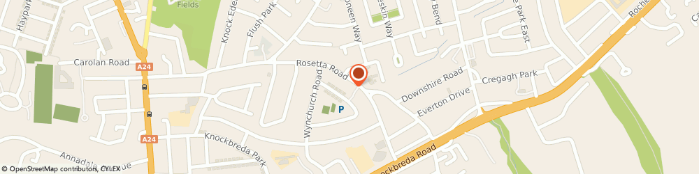 Route/map/directions to Motor Engineers & Assessors, BT6 0LR Belfast, 79 Rosetta Road