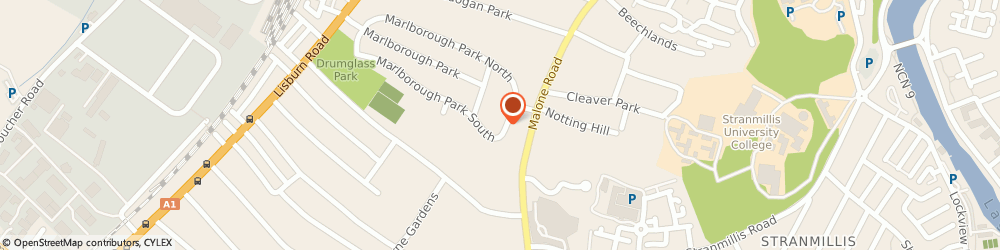 Route/map/directions to Mmc Consulting, BT9 6GH Belfast, MARLBOROUGH HOUSE, 348 LISBURN ROAD