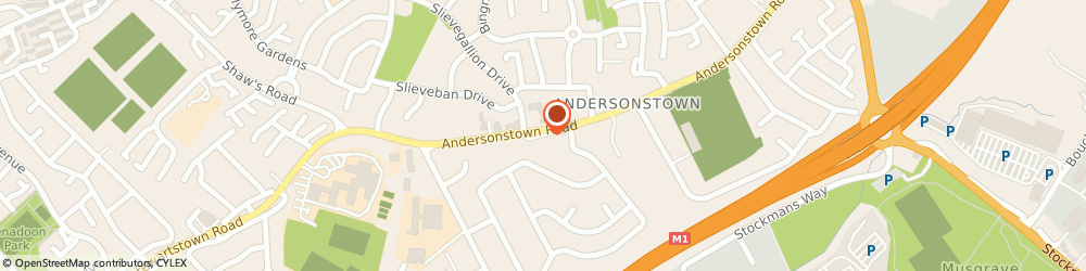 Route/map/directions to A-Town Meats, BT11 9BZ Belfast, 168 Andersonstown Road