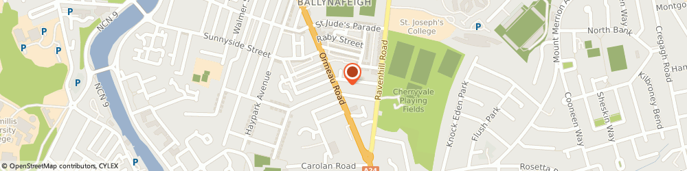 Route/map/directions to The St Jude's Parish Church, BT7 3GE Belfast, 340 Ormeau Road
