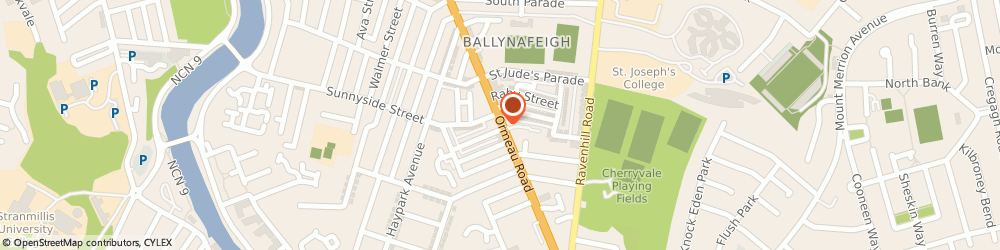 Route/map/directions to Magee Gallery The, BT7 3GQ Belfast, 455-457 ORMEAU RD