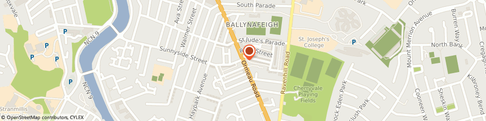 Route/map/directions to Ryan Opticians, BT7 2GE Belfast, 326 ORMEAU ROAD