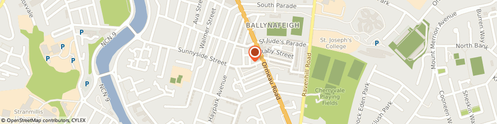 Route/map/directions to Red Hairdressing Co, BT7 3EX Belfast, 17 Sunnyside Street