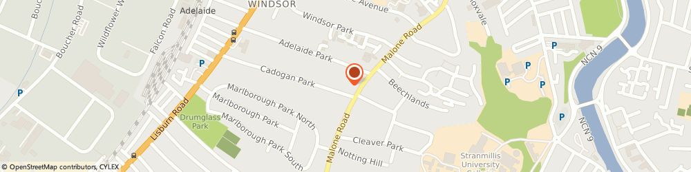 Route/map/directions to Prestige Cars Direct, BT9 6HH Belfast, Rushmere House