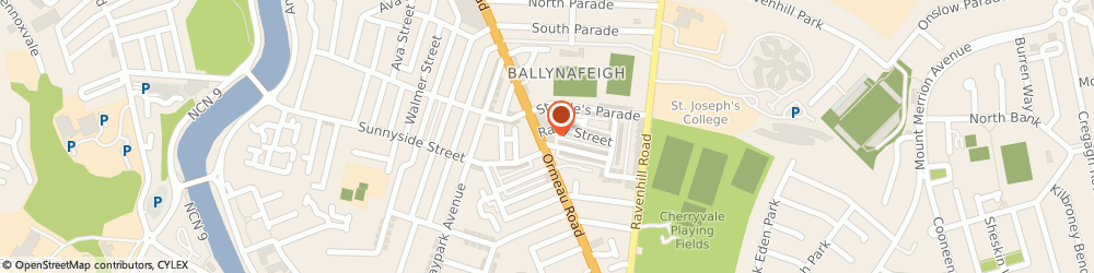 Route/map/directions to T J McGurran Ltd, BT7 2GE Belfast, 312-320 Ormeau Rd