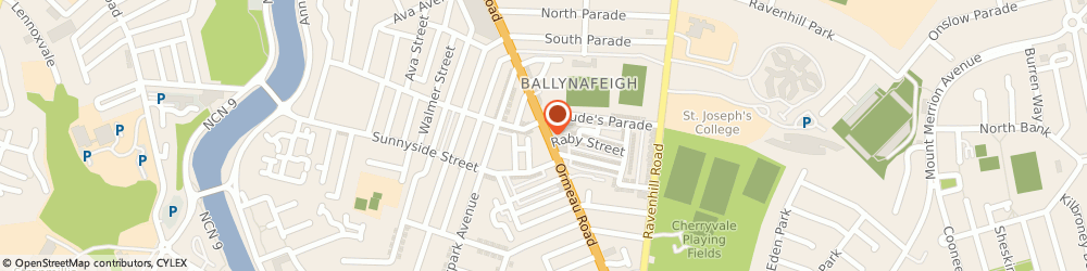 Route/map/directions to Dukes Menswear, BT7 3GQ Belfast, 429 Ormeau Rd