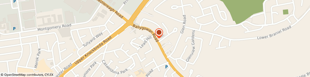 Route/map/directions to Castlereagh Medical Centre, BT5 7LH Belfast, 21 Ballygowan Road