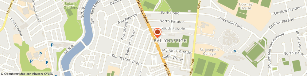 Route/map/directions to Oxfam, BT7 3GP Belfast, 389, Ormeau Road