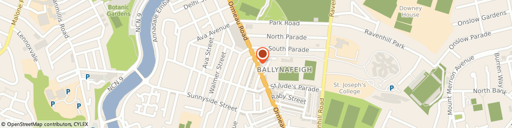 Route/map/directions to Speedy Dry Cleaners, BT7 3GP Belfast, 383 ORMEAU ROAD