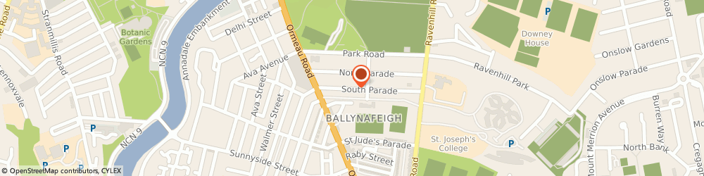 Route/map/directions to Hopkirk & Russ, BT7 2GP Belfast, 38 South Parade