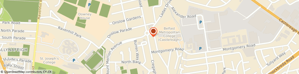 Route/map/directions to McClearys Estate Agents, BT6 9ET Belfast, 142 Cregagh Rd