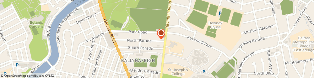 Route/map/directions to Foy Inc. Ltd, BT7 2GJ Belfast, 104 North Parade