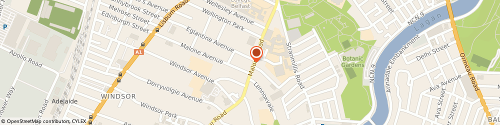 Route/map/directions to The Lash Studio, BT9 6RX Belfast, 39 Malone Rd, 2nd floor