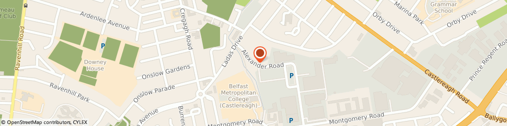 Route/map/directions to Castlereagh Police Station, BT6 9HH Belfast, 2 Alexander Road