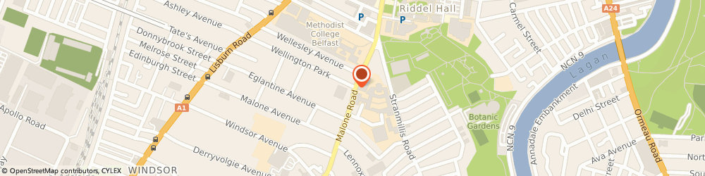 Route/map/directions to The Knowledge Academy, BT9 6RU Belfast, 21 Malone Road