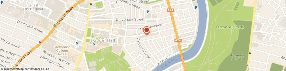 Route/map/directions to Ulster Bank University Road, BT7 1NG Belfast, 91 University Road
