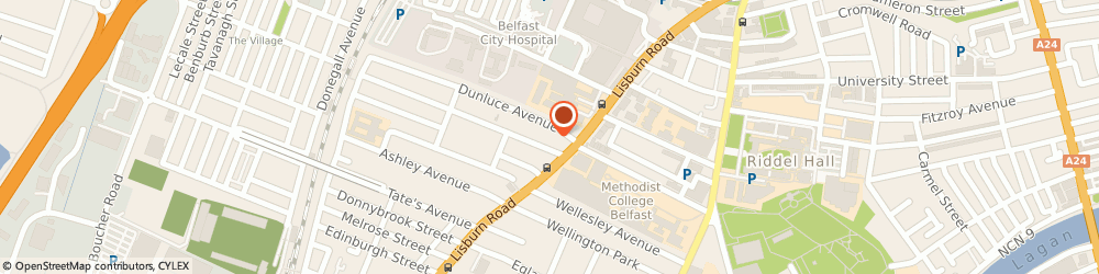 Route/map/directions to Dr r Nicholas, BT9 7AS Belfast, 13 Ulsterville Ave
