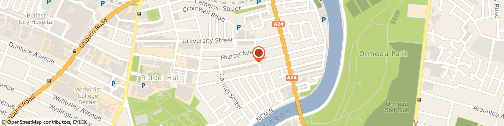 Route/map/directions to Arcus, BT7 1GX Belfast, 133 UNIVERSITY AVENUE