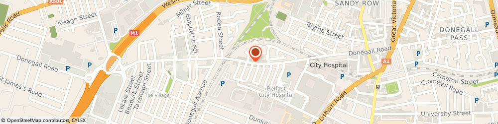 Route/map/directions to B J Toal, BT12 5EY Belfast, 132-136, Sandy Row