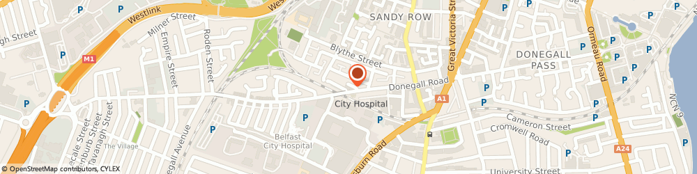 Route/map/directions to Foundation, BT12 5JL Belfast, 121 Donegall Road