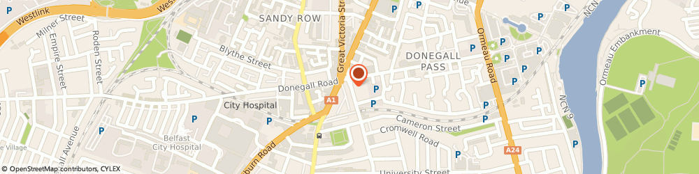 Route/map/directions to F.m Stewart & Associates, BT7 1JG Belfast, BOTANIC HOUSE, 1-5 BOTANIC AVENUE