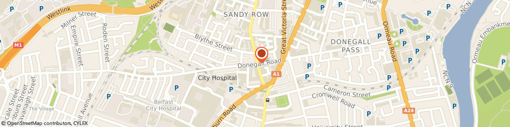 Route/map/directions to CeX, BT12 6HN Belfast, Donegall Road, Unit 40